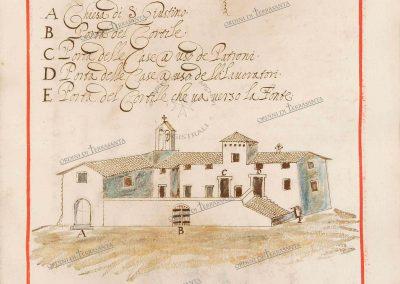 La Commenda di San Giustino (1680), ASMOM, Archivio del Priorato di Roma. © Sovrano Militare Ordine di Malta. Per gentile concessione.